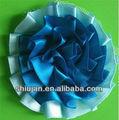 barato por atacado de fita de cetim azul flores artificiais