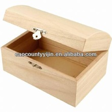 treasure chest made in China with curved lid