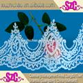 ファンシーブライダルドレスのための刺繍レーストリム