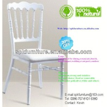 white and gold aluminum napoleon dining chairs for sale