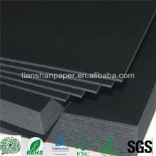 recycled black cardboard paper