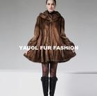 mk14100 beautiful women winter mink fur coat