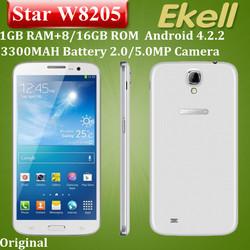 6.3'' IPS HD1280*720 Dual SIM card 1GB RAM +8/16GBROM Star W8205 no brand android phones