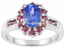 Natural Emerald Diamond Rings Jewelry, 14k Yellow Gold 925 Sterling Silver Jewelry, Gemstone Jewelry Manufacturer Wholesaler