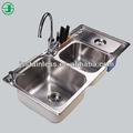 Multifunções Kitchen Sink ou aço inoxidável pia dupla bacia / cozinha pia e torneira