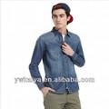 2014 slim fit fantezi ucuz uzun kollu denim erkek gömlek