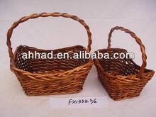 decorative wicker basket / handmade wicker basket / wicker knitting basket