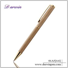 China cheap school and eco-friendly wooden pen with metal clip