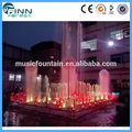 Fuente de agua flotante iluminada por luz led