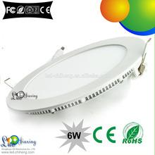 ceiling panel 85-265v 6w round led panel light