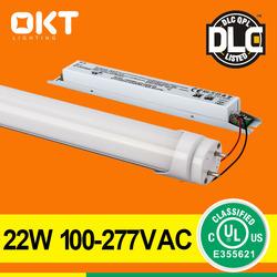 2014 Factory Sales DLC CUL UL Listed 18W 22W T8 LED Tube Light