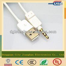 Al-foil braid shielding 3.5mm audio aux usb cable factory direct price