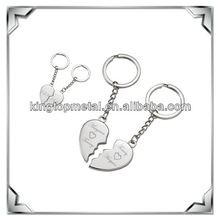 custom metal broken heart keychain