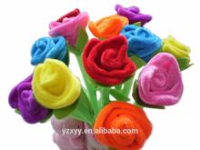 Customize plush toy rose pen,plush bouquet pen souvenir