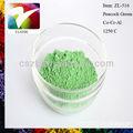 pigmentos de cerámica de revestimiento en polvo de pavo real verde