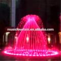 Usine d'approvisionnement en acier inoxydable grande fontaine scène changement de couleur