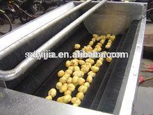 hot efficiency with potato washing peeling machine