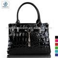 ladies fancy hand bags black pu leather handbag