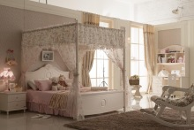 2014 popular white princess kid bed with tent home bedroom furniture.girl's bedroom