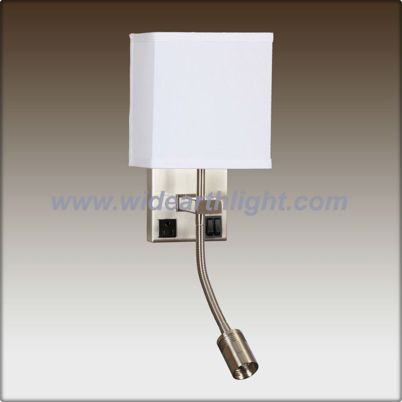 Modern Beside Reading Wall Lamp /wall Sconce With Power Outlet For Hotel W20156 - Buy Wall ...