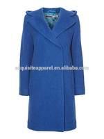 100% Virgin wool Oversized Hooded long winter Coat/ Womens models wool coats