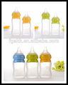 Amostra grátis novo BPA livre 160 ml / 240 ml engraçado do bebê do Silicone Milk mamadeiras
