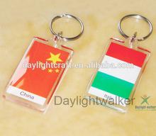 acrylic keychain photo frame blank keyring (DLW-5022)
