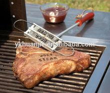 Ferro rovente strumento barbecue bistecca di carne burger& lettere mutevole