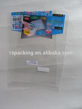 High quality clear opp adhesive plastic bag package human hair