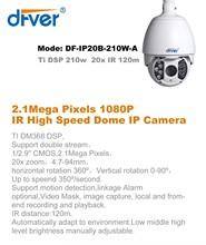 PTZ High Speed Dome IP Camera. 1080P, 2.1Mega Pixels,Onvif , poe optional, 20x zoom, IR 120m,warranty : 2 years