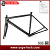 Only 880g Orge CF009 lightest OEM UD bici da corsa Chinese Carbon road bike frames with rigid fork