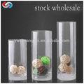 cristal altura claro cilindro vaso de vidro artesanal claro vaso de vidro fosco