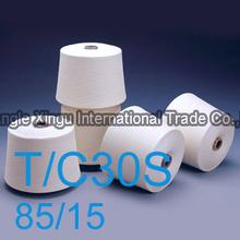 Best price 30S medium elasticity 85/15 polyester/cotton ring spun yarn