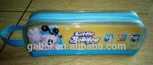 plastic heat sealling printed promotional vinyl clear transparent PVC pencil cae bag box pouch