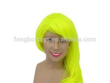 Long yellow wig Human hair wig Synthetic wigs