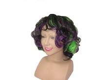 Mix color Short wig Human hair wig Synthetic wig