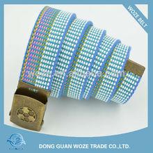 Stripe embossed buckle custom canvas belts