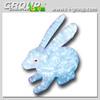 H 160cm christmas lighted rabbit decoration ,3d motif rabbit outdoor light