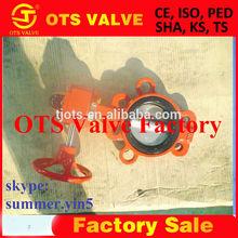 BV-SY-220 API 609 NPT thread femal or malre gas valve butterfly handle