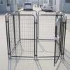 friendly metal large dog kennels /ANTI-CLIMB BAR SYSTEM /DOG RUN PEN CAGE