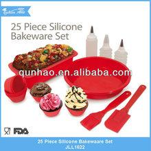 25 pcs Silicone Bakeware Sets & Silicone baking sets