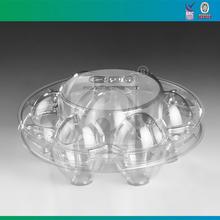 Plástico descartável recipiente em forma de ovo
