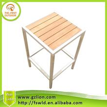 KSDC-023 Cheapest stainless steel wooden bar stool