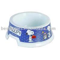Lovely design cartoon pattern anti broken melamine pet dogs drinking bowls & feeders
