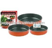 3pcs non stick bakeware carbon steel cake mold apple pie pan