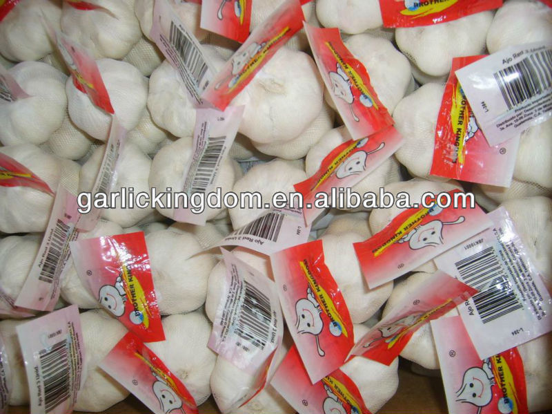 new crop natural garlic bulb/5.5cm garlic mesh bag/pure white garlic from origin