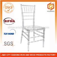 China Stackable crystal chiavari chair crystal silla tiffany chair