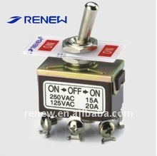 DPDT on-off-on type toggle switch (CCC certificate)