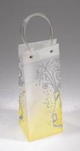 pvc tube handle wine bottle carrier bag