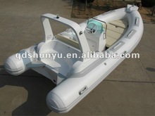 (CE) pvc material 5.2m 10 passengers double V-deep hull semi rigid inflatable boat 520 for sale